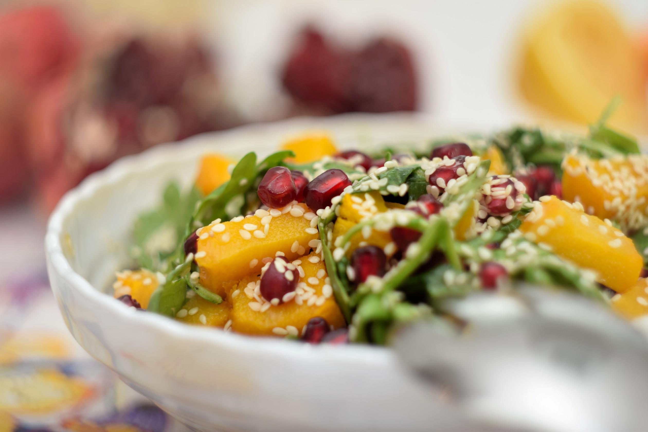pumpkin pomegranate christmas salad
