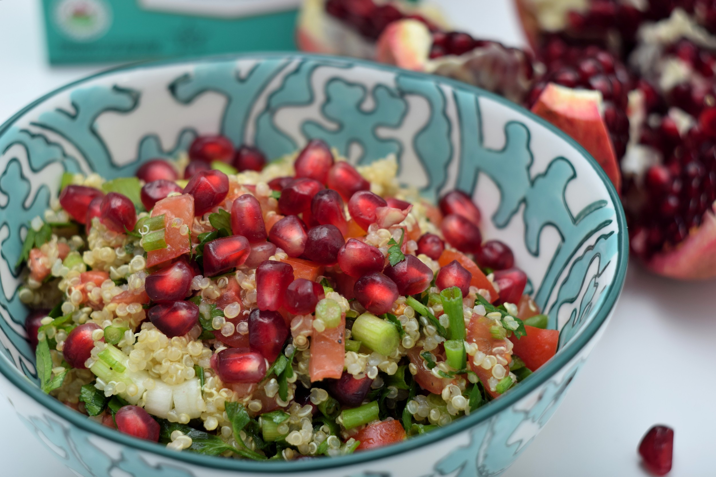 quinoa and pomegranate salad for lunch