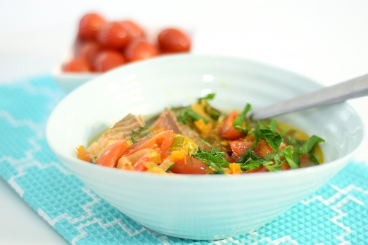 Scandinavian Salmon Soup with Vegetables