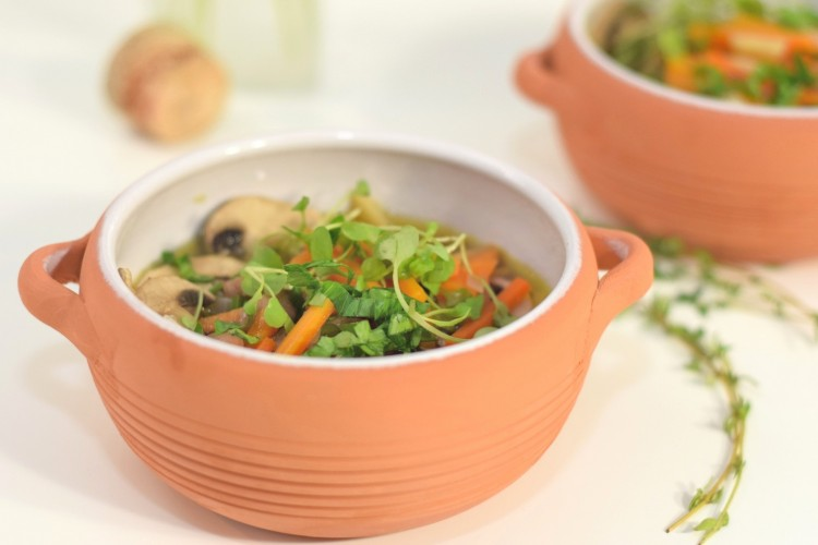 Vegetable-Bean Soup with Mushrooms