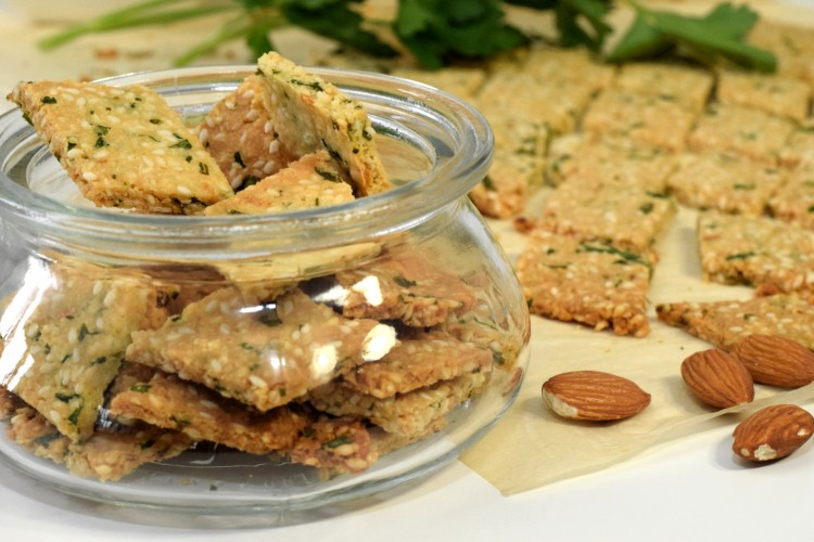 Gluten Free Almond Crackers